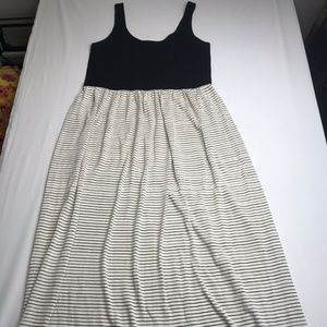 Lou & Grey Womens Maxi Dress Sleeveless Striped M